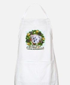 Merry Christmas Schnoodle Apron
