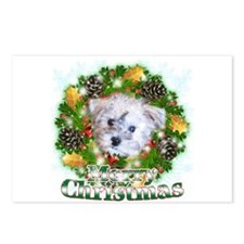 Merry Christmas Schnoodle Postcards (Package of 8)