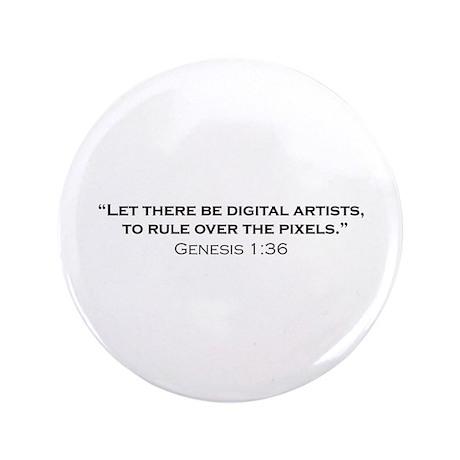 "Digital Artist / Genesis 3.5"" Button (100 pack)"