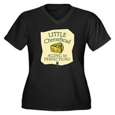 Little Cheesehead Women's Plus Size V-Neck Dark T-