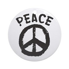Peace Time Ornament (Round)