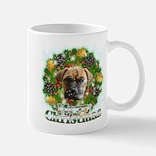Merry Christmas Bull Mastiff Mug
