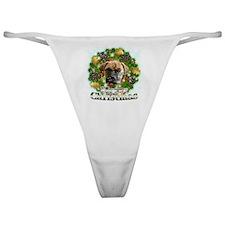 Merry Christmas Bull Mastiff Classic Thong