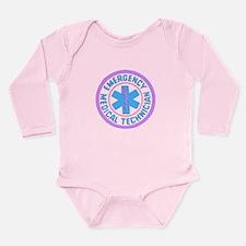 EMT Logo Pastel Long Sleeve Infant Bodysuit