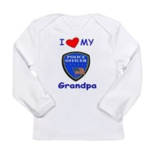 I Love My Police Grandpa Long Sleeve Infant T-Shir