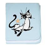 Siamese Cat Royalty baby blanket