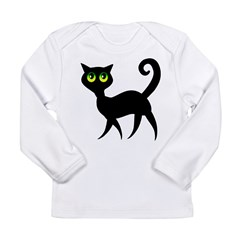 Cat With Green Eyes Long Sleeve Infant T-Shirt