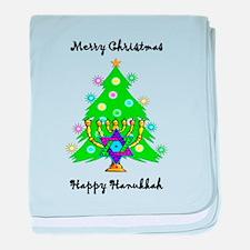 Hanukkah and Christmas Interfaith baby blanket