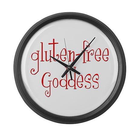 Gluten Free Goddess Large Wall Clock