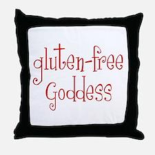Gluten Free Goddess Throw Pillow