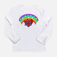 Jewish Love Hearts Long Sleeve Infant T-Shirt