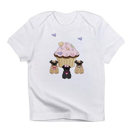 Pug Dog Cupcakes Infant T-Shirt
