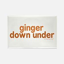 Ginger Down Under Rectangle Magnet