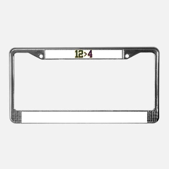 12 > 4 License Plate Frame