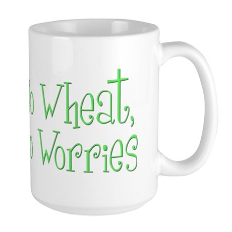 No Wheat No Worries Large Mug