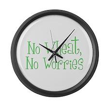 No Wheat No Worries Large Wall Clock