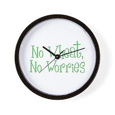 No Wheat No Worries Wall Clock