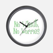 No Wheat No Worries Wall Clock
