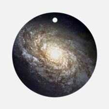 NGC 4414 Spiral Galaxy Ornament (Round)