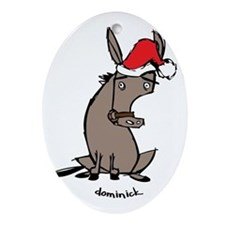Dominick the Donkey Ornament (Oval)