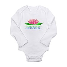 Lotus Blossom Long Sleeve Infant Bodysuit