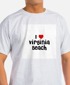 I * Virginia Beach Ash Grey T-Shirt