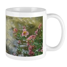 Pink Flowers on a Stream Mug