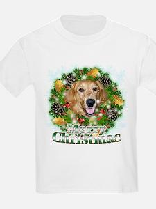 Merry Christmas Golden Retriever 2 T-Shirt