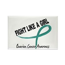 Fight Like A Girl Ovarian Cancer Rectangle Magnet