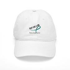 Fight Like A Girl Ovarian Cancer Baseball Cap