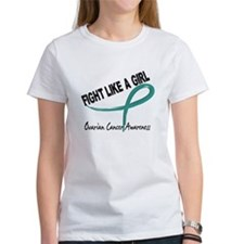 Fight Like A Girl Ovarian Cancer Tee