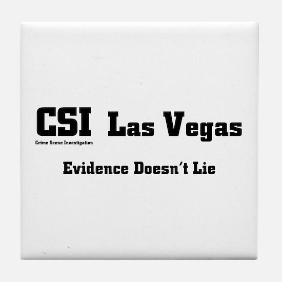 CSI Las Vegas Evidence Doesn' Tile Coaster