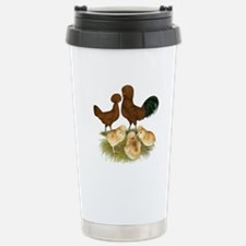 Red Polish Chickens Travel Mug