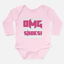 OMG Shoes 1.0 Long Sleeve Infant Bodysuit