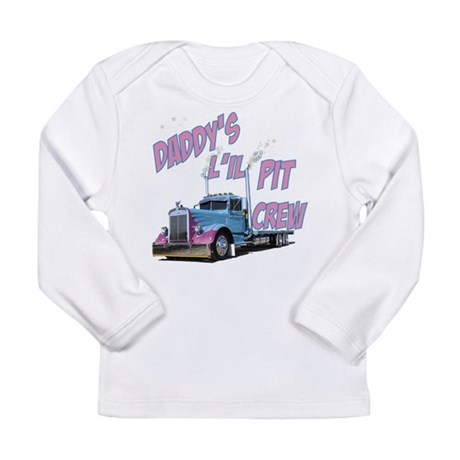 Daddy's L'il Pit Crew Long Sleeve Infant T-Shirt