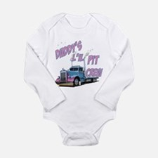 Daddy's L'il Pit Crew Long Sleeve Infant Bodysuit