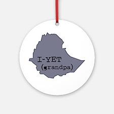 I-YET, Grandpa in Amharic (Et Ornament (Round)