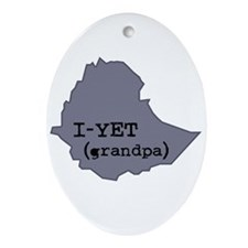 I-YET, Grandpa in Amharic (Et Ornament (Oval)
