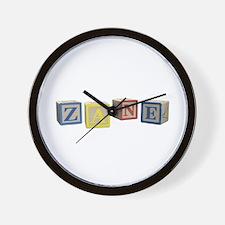 Zane Alphabet Block Wall Clock