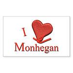 I LOVE Monhegan Rectangle Sticker