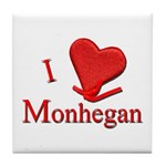 I LOVE Monhegan Tile Coaster