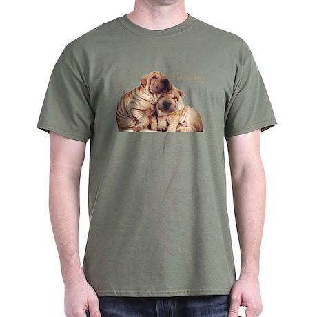 """""""Shar-Pei Love"""" Black T-Shirt"""