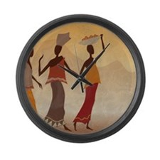 African Women Large Wall Clock