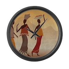 African Women Large Wall Clock