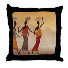 African Women Throw Pillow