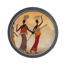 African Women Wall Clock