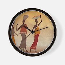 African Women Wall Clock