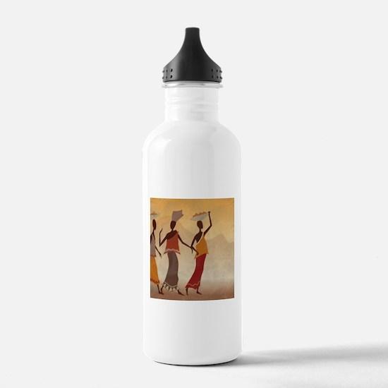 African Women Water Bottle