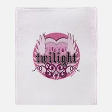 Twilight Pink Wings by Twibaby Throw Blanket