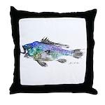 Black Sea Bass Throw Pillow